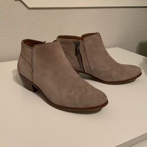 Sam Edelman taupe booties
